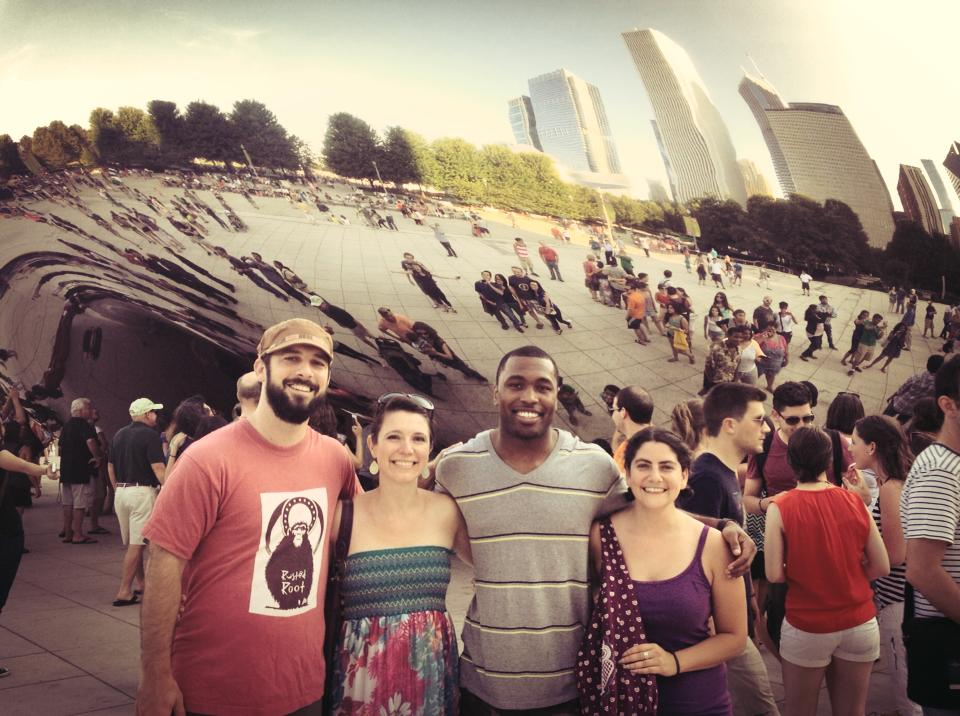 mE, Em, Jared, and Maribeth at The Bean