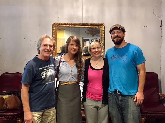 Tom Eizonas, Lauren Farrah, Amy E. Hall, and Chuck Beard