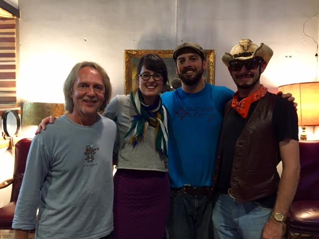 Tom Eizonas, Rita Bullwinkel, Chuck Beard, and Dutch Whisky