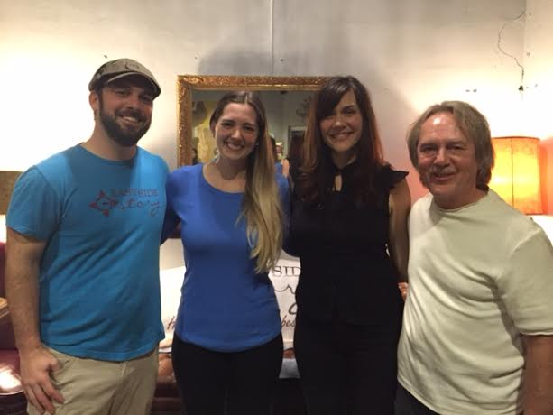 Chuck Beard, Kate Parrish, Sarah Carter, and Tom Eizonas